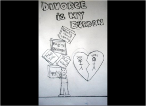 Image done by child in a divorce